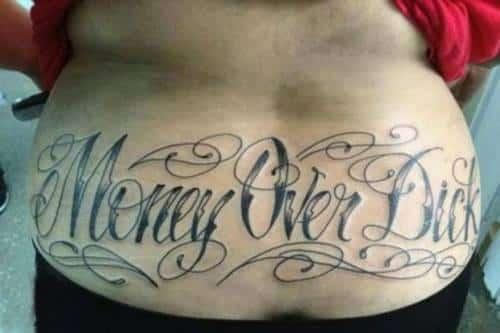 Tramp stamp tetování   Hedonist