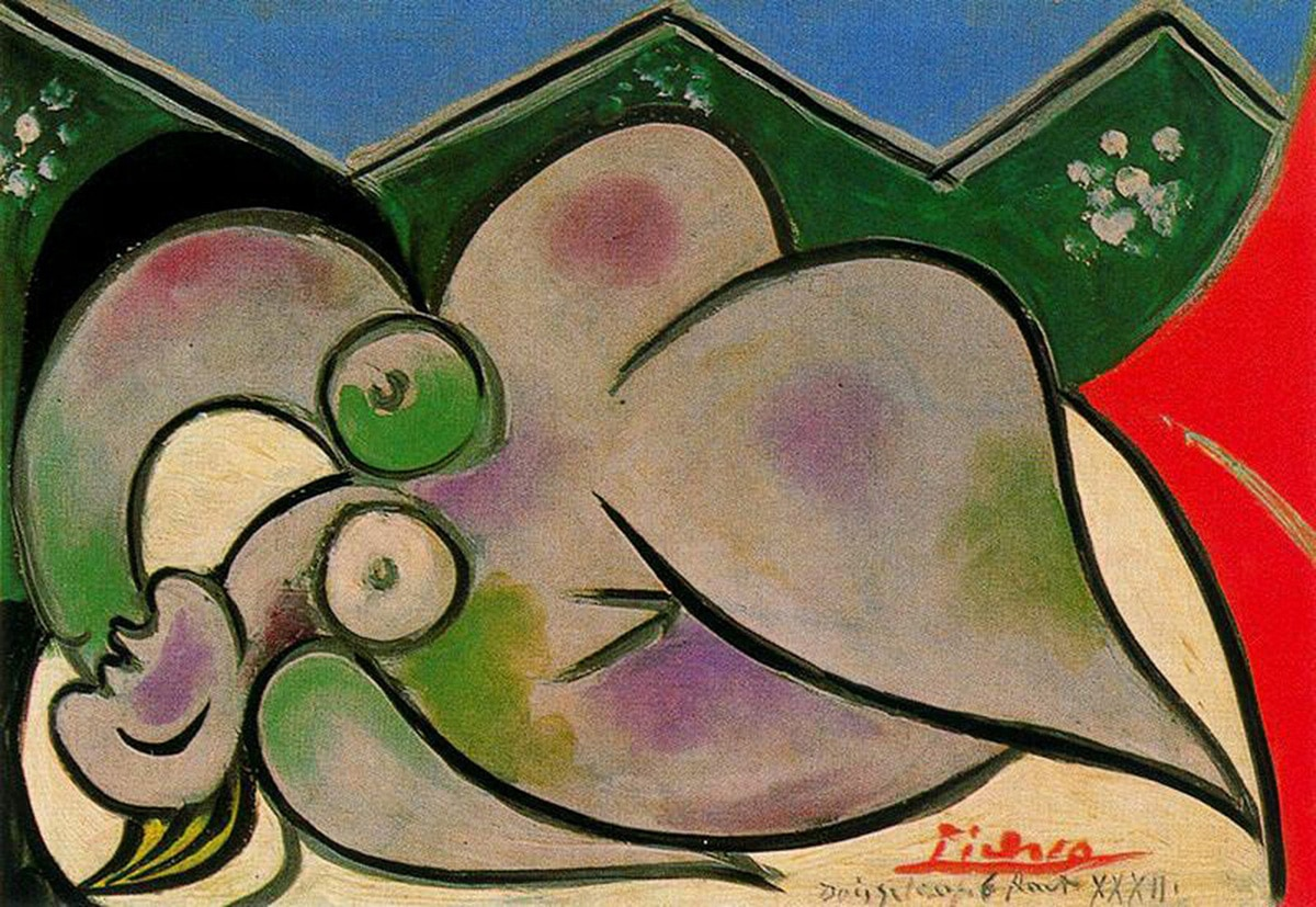 Pablo Picasso | Reclining nude